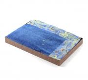 Полотенца хлопковые Deluxe. Полотенце банное (ярко-голубое)
