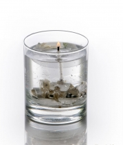 Новый Год. Свеча в цилиндрическом стакане Зимняя сценка от Stone Glow