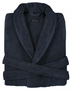 Халаты Одежда для бани и сауны. Халат CHICAGO (MASAL) (S; M; L; XL) тёмно-синий от Casual Avenue