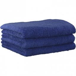 "Полотенца хлопковые.          Полотенце CAWO ""Life Style"" 7007 Синий сапфир"