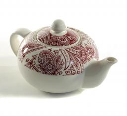 Посуда Столовые приборы Декор стола Deluxe. Чайник заварочный с красным узором