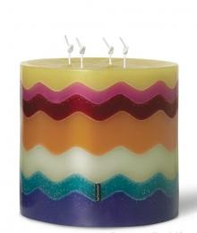 Ароматические свечи Парфюм для дома Диффузоры. Свеча торт Flame (19х18) от Missoni яркая