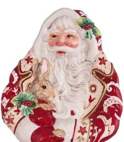 . Блюдо - пано с Дедом Морозом от Lamart art.29010