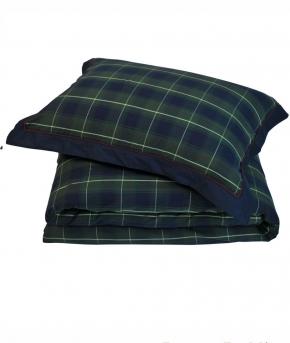 . Постельное белье Kingston двуспальное евро (200х220) Зеленый от Casual Avenue