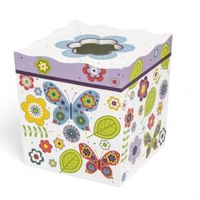 Аксессуары для детских ванных комнат. Бокс для салфеток (салфетница) Butterflies ABF-TH