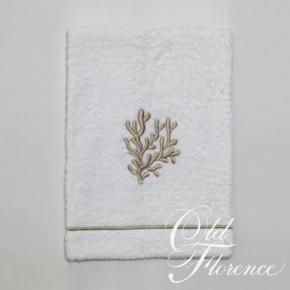 Полотенца хлопковые. Банное полотенце с вышивкой (беж) КОРАЛО 110х150