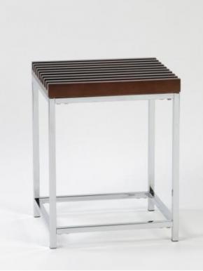 . Стул квадратный BA60258 табурет для ванной с деревянным сиденьем