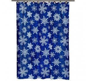 Шторки для душа и ванны текстильные. Шторка для ванной Snow Flake FSC-SNO