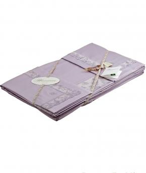 Постельное бельё Deluxe. Постельное белье двуспальное с пододеяльником 250х200 Сиреневый Farfalla от Blumarine