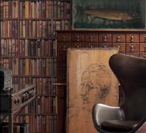 Обои Deluxe. Обои Library Leather
