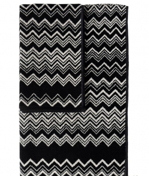 Полотенца хлопковые Deluxe. Набор из 2-х полотенец Keith (40х60; 60х110) Черный от Missoni