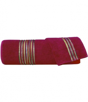 Полотенца хлопковые Deluxe. Набор из 2-х полотенец Master (40х60; 60х110) Красный от Missoni