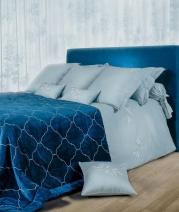 Постельное бельё Deluxe. Постельное белье Изадора двуспальное Голубой от Catherine Denoual Maison