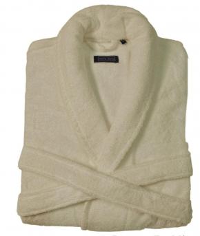 Халаты Одежда для бани и сауны. Халат DOWNTOWN (Nem) (S; M; L; XL) слоновая кость от Casual Avenue