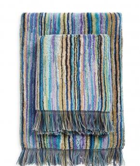 Полотенца хлопковые Deluxe. Набор из 2-х полотенец для лица (40х60) и рук (60х110) Owen Синий от Missoni