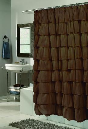 Шторки для душа и ванны текстильные. Шторка для ванной Carmen коричневая SCVOIL/CAR/13