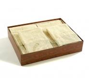 Полотенца хлопковые Deluxe. Комплект махровых полотенец (слоновая кость)