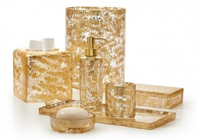 . Lydia Gold хрустальные настольные аксессуары для ванной