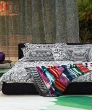 Постельное бельё Deluxe. Постельное белье королевское Ozzy (240×220) с наволочками 70х70 Черный от Missoni
