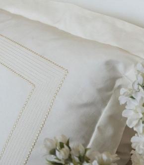 Постельное бельё. Постельное белье Siena (Mood) двуспальное евро (200х220) Слоновая Кость от Casual Avenue