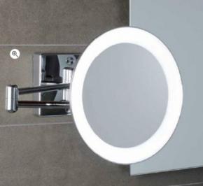 . Зеркало настенное, с подсветкой, без провода, с 3-х кратным увеличением DISCOLOLED 35/2KK3
