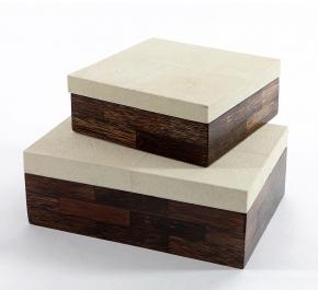 Боксы для часов и украшений Шкатулки Deluxe. Шкатулка деревянная (квадратная)