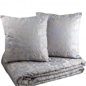 Пледы Покрывала. Покрывало стеганое (270х270) и две подушечки (42x42) Smeraldo Голубой от Svad Dondi