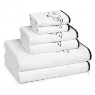 Полотенца хлопковые. Полотенце для рук Le Bain White / Black LBA-110-WB