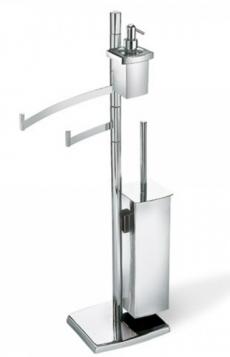 . Стойка с ёршиком, держателем для туалетной бумаги, полотенцедержателем с дозатором TD165.013