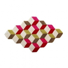 . Коврик для ванной Кубик Разноцветный Abyss & Habidecor
