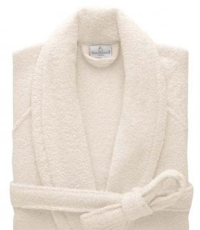 Халаты Одежда для бани и сауны Deluxe. Халат с шалью унисекс (S; M; L; XL; XXL) Etoile Nacre (Этуаль Накр) от Yves Delorme