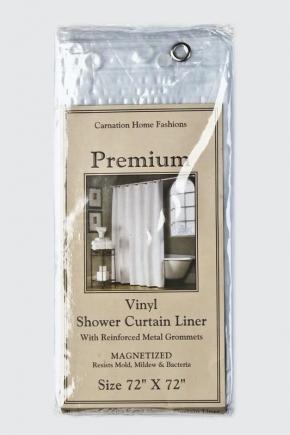 Шторки для душа и ванны текстильные. Защитная шторка Premium 4 Gauge Frosty Clear матовая