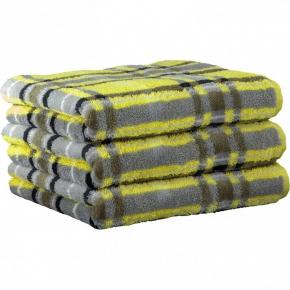 ".         Полотенце CAWO ""Cubes"" 1062 Желтый-серый"