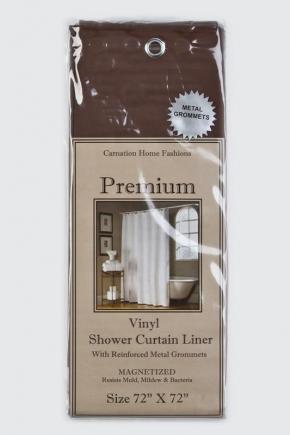 Шторки для душа и ванны текстильные. Защитная шторка Premium 4 Gauge Brown коричневая
