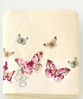 Полотенца хлопковые Deluxe. Полотенце банное 100х150 Castadiva Слоновая кость от Blugirl Art.78673-02