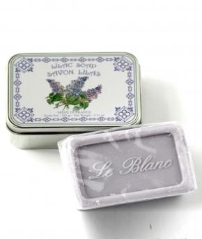 Luxury Гель для душа Мыло. Мыло ароматизированное Сирень в жестяной коробочке от Le Blanc