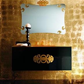 Мебель для ванной комнаты. Eurolegno Glamour Композиция №5 Комплект мебели 120 см, цвет: глянцевый чёрный
