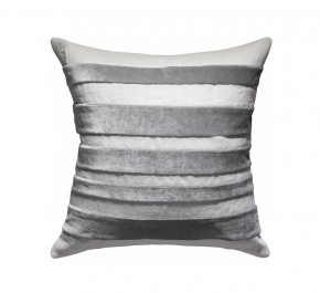 Декоративные подушки Deluxe. Подушка Velvet & Linen Striped - Ivory