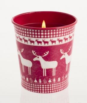 . Горшочек Рождество, Красная смородина и клюква от Stone Glow Арт.3568