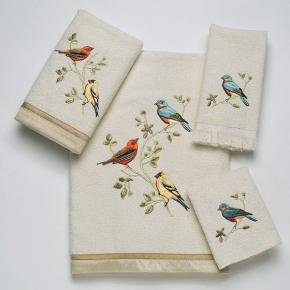 Полотенца хлопковые. Полотенце для рук Gilded Birds 019842IVR