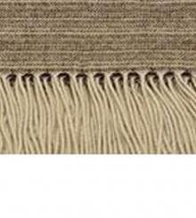 . Плед Eros (100% кашемир) Бежевый в коричневую полоску 140х180см. от Co.Bi
