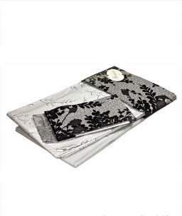 Постельное бельё Deluxe. Постельное белье Gemma двуспальное (220х200) Серый от Blumarine арт. 76418-08