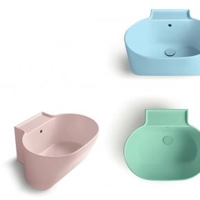 . Colavene Tina универсальная постирочная раковина глубокая для ванной Rosa, Azzurro, Verde