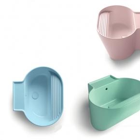 Итальянские постирочные раковины Мебель и оборудование для постирочной комнаты. Colavene Tino универсальная постирочная раковина глубокая для ванной Rosa, Azzurro, Verde
