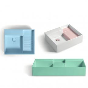 . Colavene Nobu универсальная постирочная раковина глубокая для ванной Rosa, Azzurro, Verde