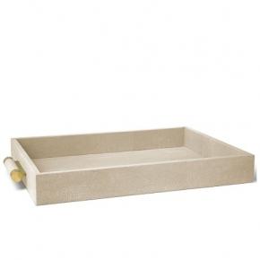Аксессуары и Мебель для дома. Classic Shagreen Wheat Aerin кожаный поднос прямоугольный шагрень