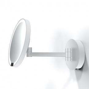 . Decor Walther Just Look белое мат настенное косметическое зеркало с подсветкой LED и увеличением х5