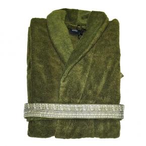 Халаты Одежда для бани и сауны Deluxe. Versace home collection I Heart ♡ Baroque халат махровый зелёный
