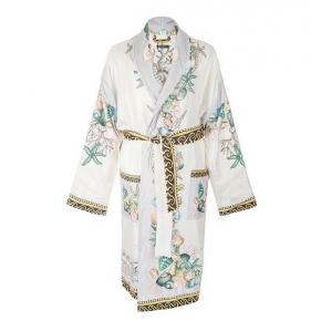 Халаты Одежда для бани и сауны Deluxe. Versace home collection Les Etoiles de La Mer халат шёлковый белый двухсторонний