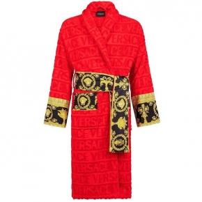 Халаты Одежда для бани и сауны Deluxe. Versace home collection Barocco and Robe халат махровый красный